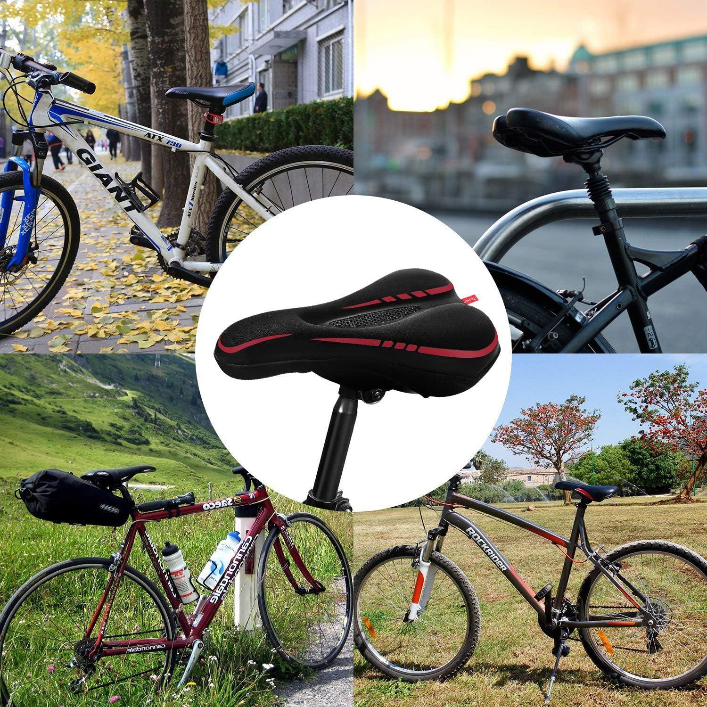 Yobenki - Funda impermeable para sillín de bicicleta, funda de gel ...