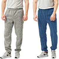 TEXFIT 2-Pack Men's Jogging Pants with Side Pockets, Elastic Bottom, Soft Fleece Sweat Pants