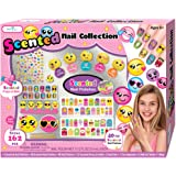SmitCo LLC Kids Nail Polish Set, Emoji Nail Art Craft Kits For Girls, Includes Non Toxic, Scented Stickers, Peel-Off Nail Polish, Nail Patches, Press On Nails, Files, Toe Separator, Stickies and Ring