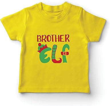 lepni.me Camiseta para Niño/Niña Fiesta de Navidad del Hermano Duende: Amazon.es: Ropa y accesorios