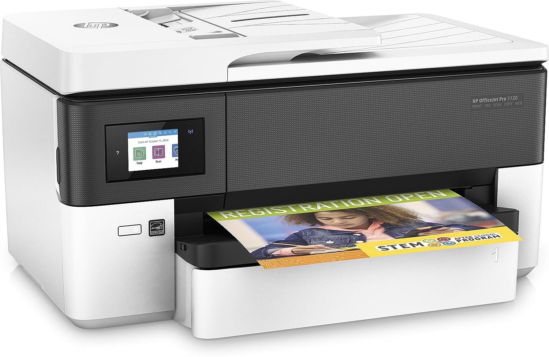 HP Officejet Pro 7720 - Impresora multifunción de formato ancho (impresión A3 y A4, pantalla táctil en color, memoria 512 MB, AAD de 35 hojas, ...