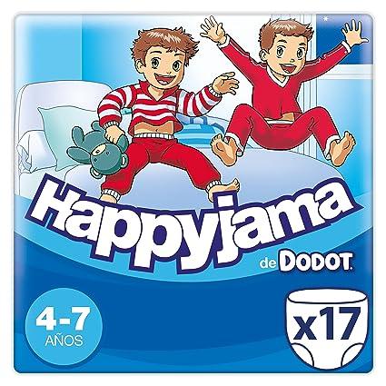 Dodot Happyjama - Pañales para Niño, 4-7 años, 17 pañales