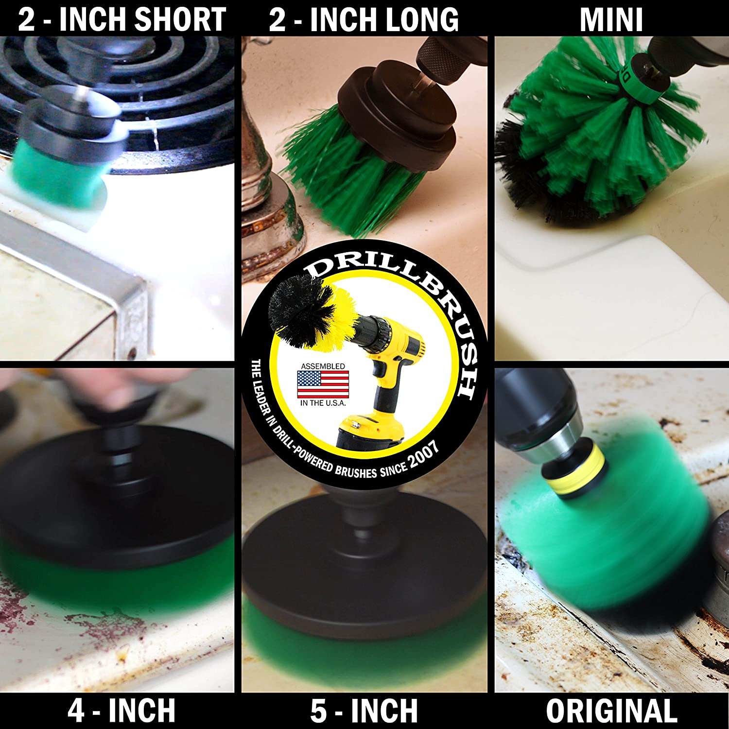 Grout Cleaner Concrete Garden Drill Brush Marble Scrub Brush Fountain Outdoor Headstones Patio The Ultimate Stiff Bristle Cleaning Attachment Kit Cleaning Supplies Fire Pit