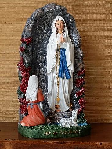 Madonna von Lourdes in der Grotte zu Lourdes Statue Deko