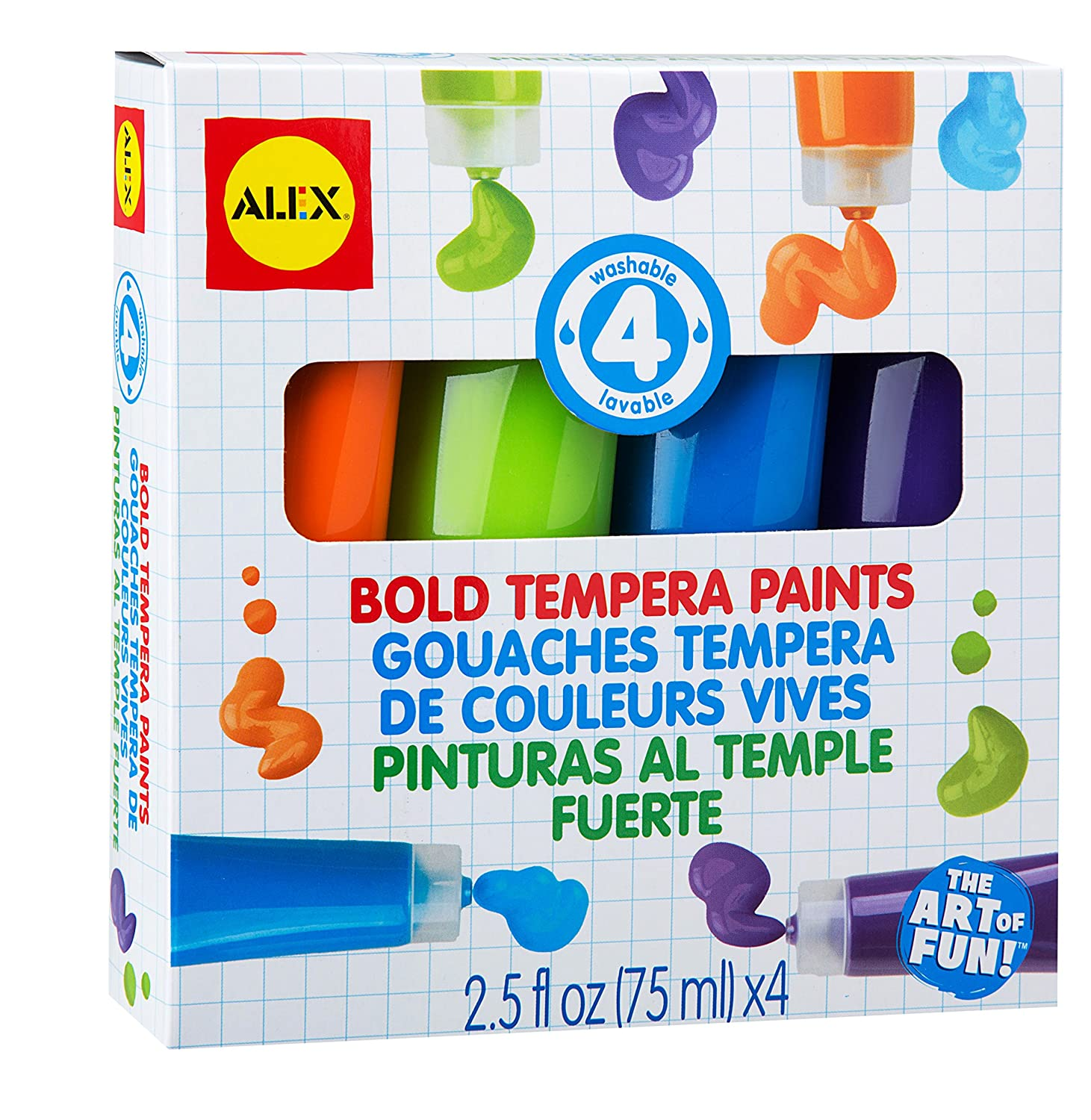 Alex Toys Lavable Bold Tempera, peintures Multicolore Notions Marketing 332BO
