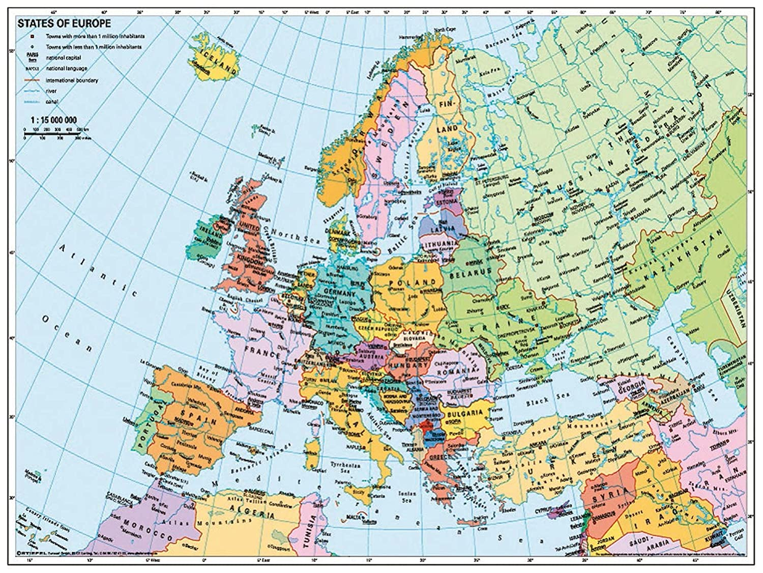 Buy Ravensburger Political Map Of Europe Jigsaw Puzzle 500 Pieces