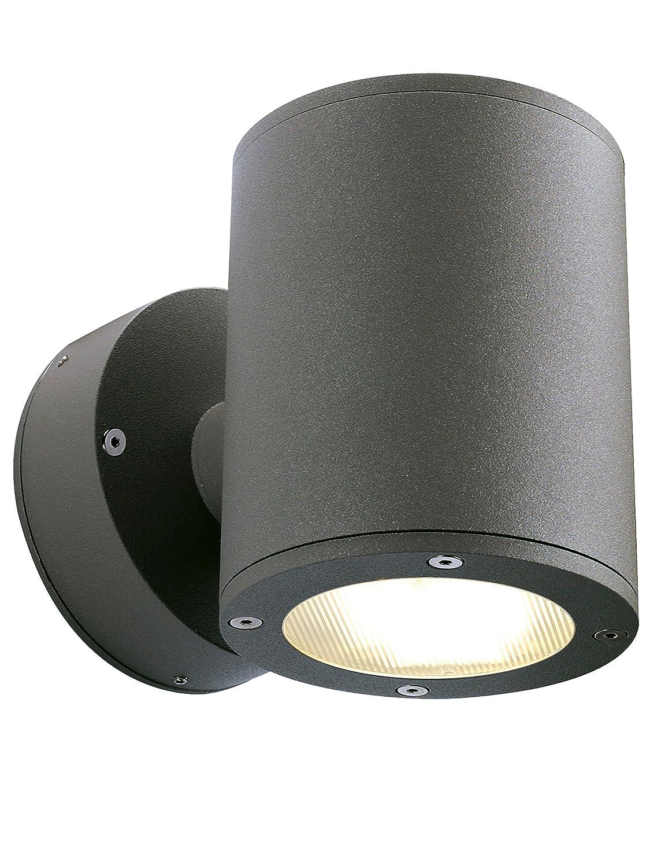 SLV Wandlampe SITRA für die Außenbeleuchtung von Wänden, Wegen, Eingängen | LED Strahler, Wandleuchte, Up- and Down-Light, Aussenleuchte, Gartenlampe, Wegeleuchte | GX53, max. 9W, EEK bis B-A++ [Energieklasse A] 230365