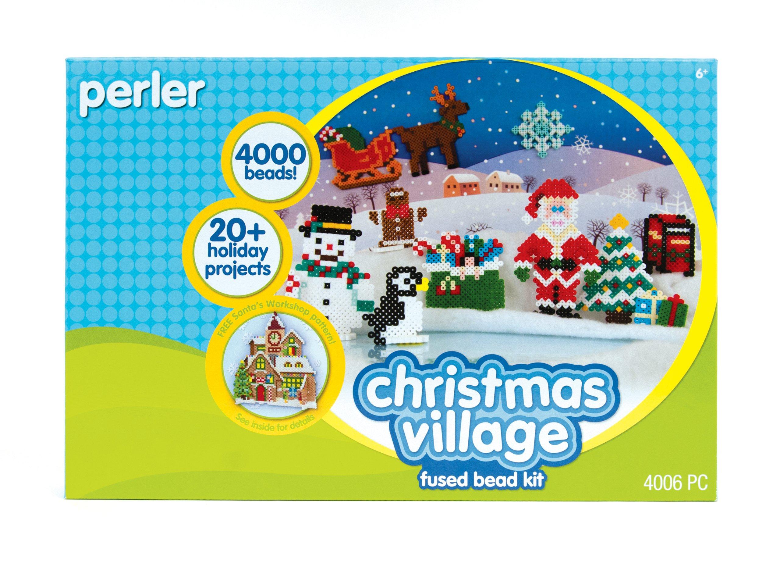 Perler Beads Fused Bead Kit - Christmas Village by Perler