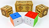 JOYIN Speed Cube 2 Pack Magic Rubix Cube 3x3 and