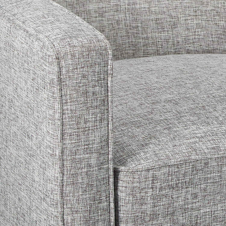 Christopher Knight Home Mervynn Mid-Century Modern Fabric Recliner, Light Grey Tweed