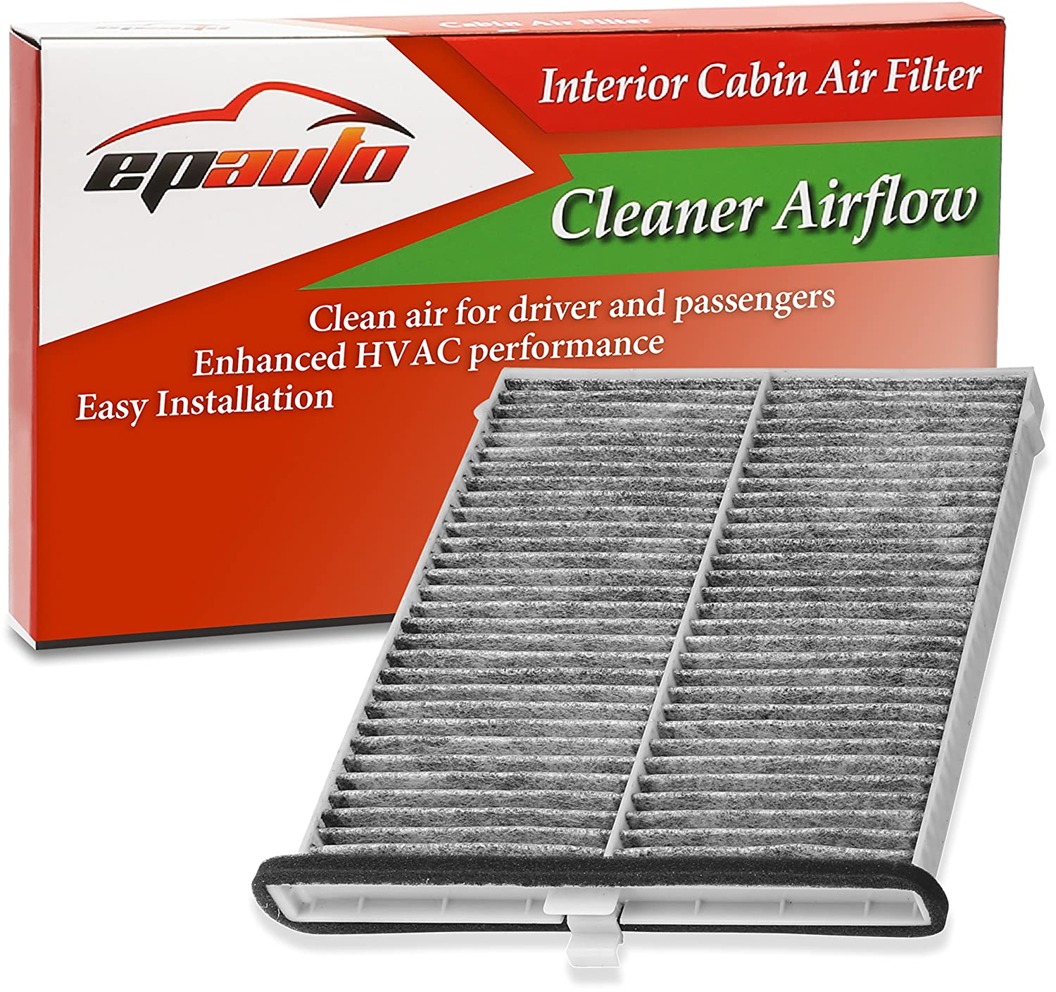 EPAuto CPJ6X (KD45-61-J6X) Replacement for Mazda Premium Cabin Air Filter includes Activated Carbon FC-016-1