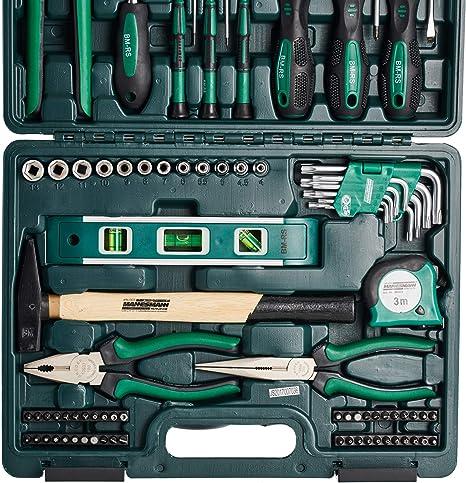 Brüder Mannesmann Werkzeuge 87 piezas) maletín de herramientas, 1 ...