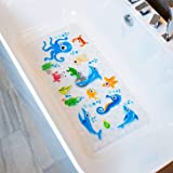 BeeHomee Bath Mats for Tub Kids - Large Cartoon Non-Slip Bathroom Bathtub Kid Mat for Baby Toddler Anti-Slip Shower Mats…