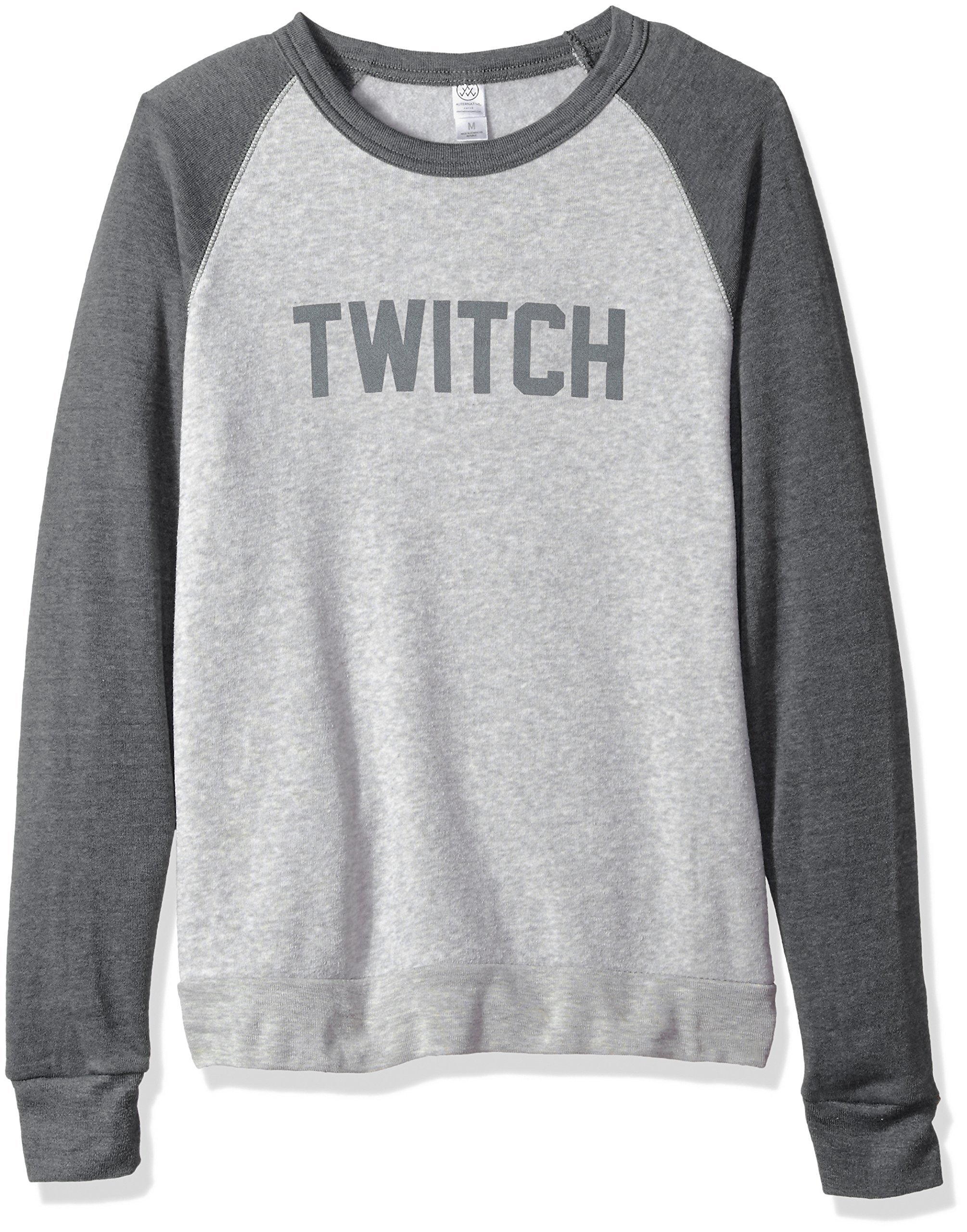 Twitch Colorblock Crewneck Sweatshirt (3XLarge, Grey/Oatmeal) by Twitch