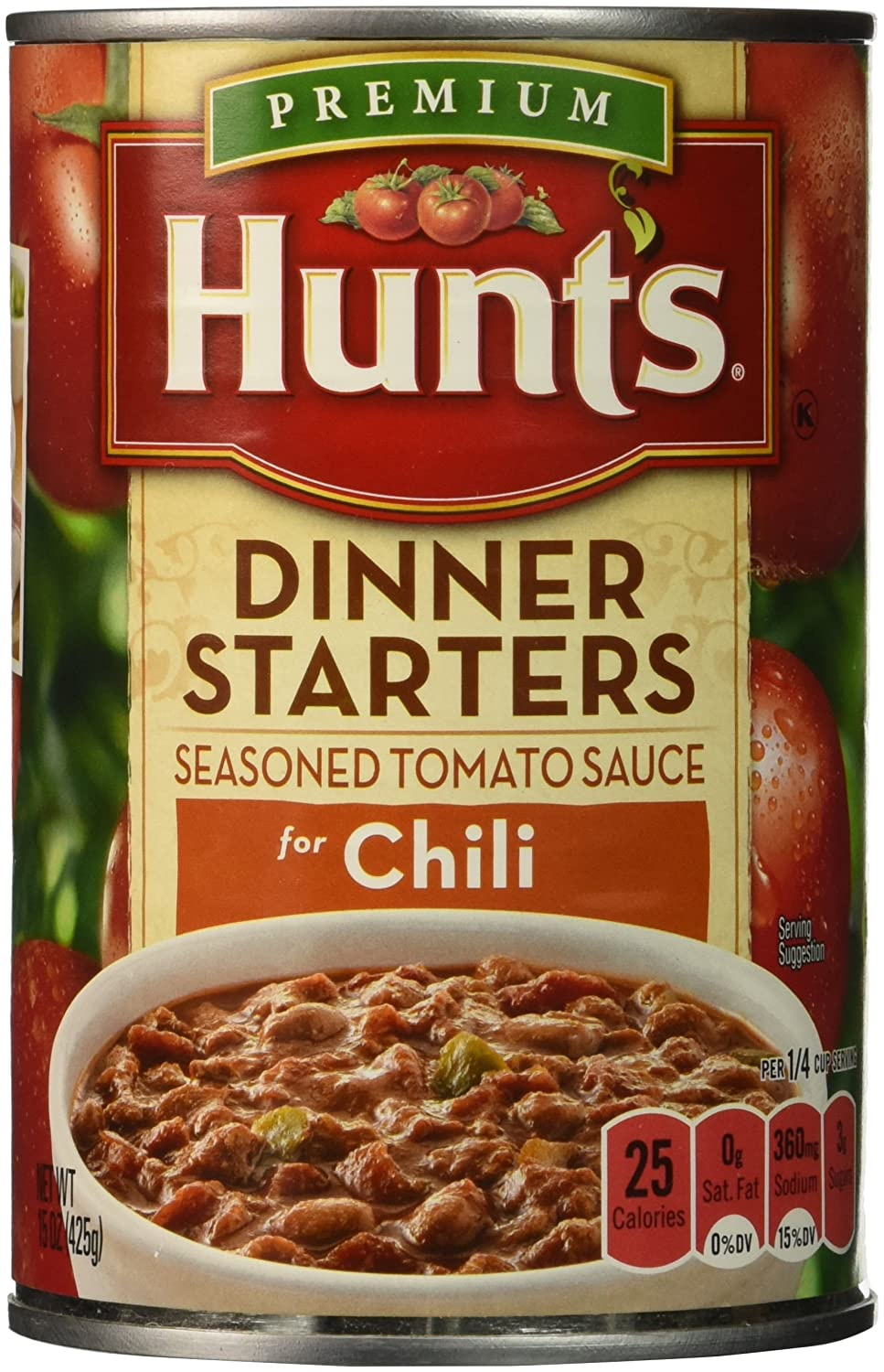 Amazon Com Hunt S Dinner Starters Seasoned Tomato Sauce For Chili 15 Oz Pack Of 6 Grocery Gourmet Food