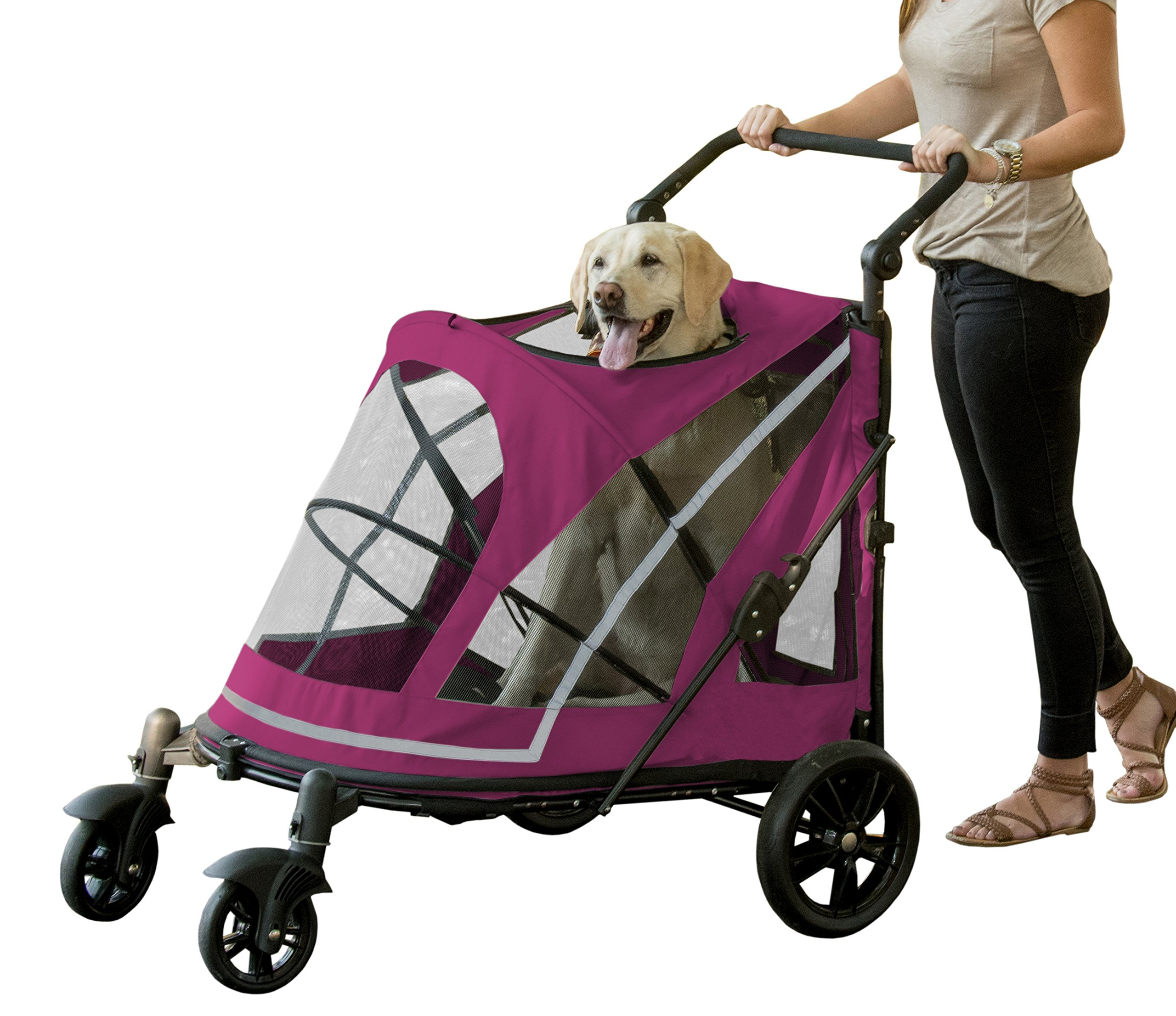 Pet Gear PG8850NZBB No-Zip Expedition Pet Stroller