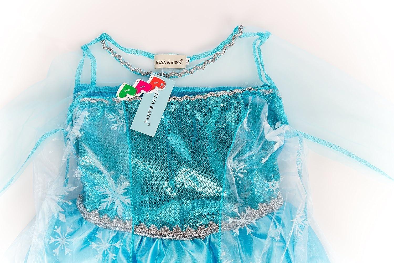 ELSA /& ANNA/® Ragazze Principessa Abiti Partito Vestito Costume IT-Dress-SEP208
