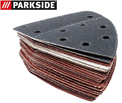 Parkside lija hojas Set 30 Unidades Madera, piedra, barniz para amoladora mano PHS 160