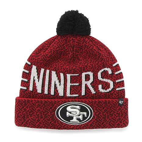 87d4f3677 Amazon.com    47 NFL San Francisco 49ers Mezzo Cuff Knit Beanie with ...