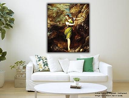 Tamatina tela dipinti - ST Margaret e il drago - Modern Art dipinti ...