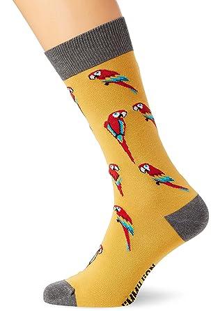 Jimmy Lion Parrots, Calcetines para Hombre, Amarillo (Yellow), 41-46: Amazon.es: Ropa y accesorios