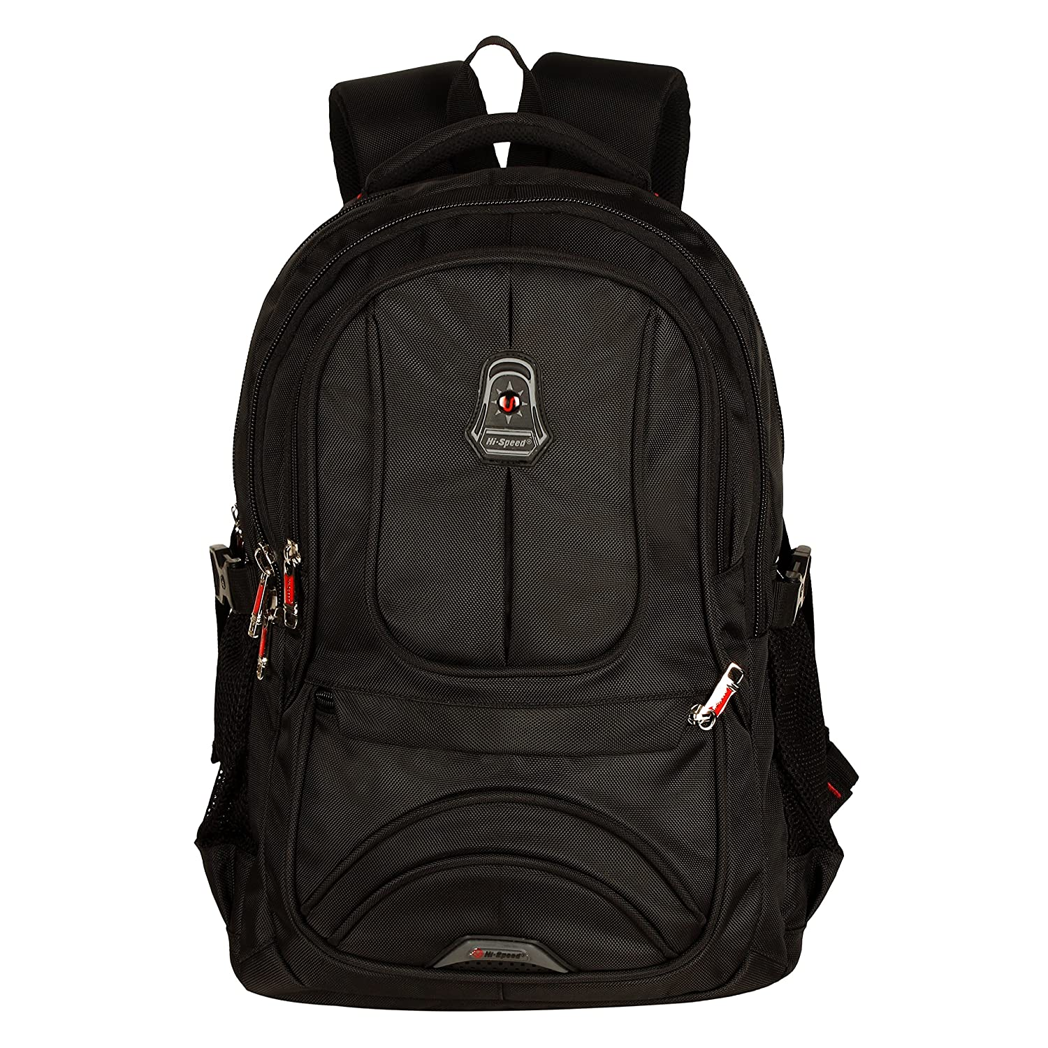 ddbe4d376f8 Hi-Speed Black Polyester College Backpack | School Bag | Casual Bag |  Shoulder Backpacks for Girls & Boys with Rain Cover: Amazon.in: Bags, ...
