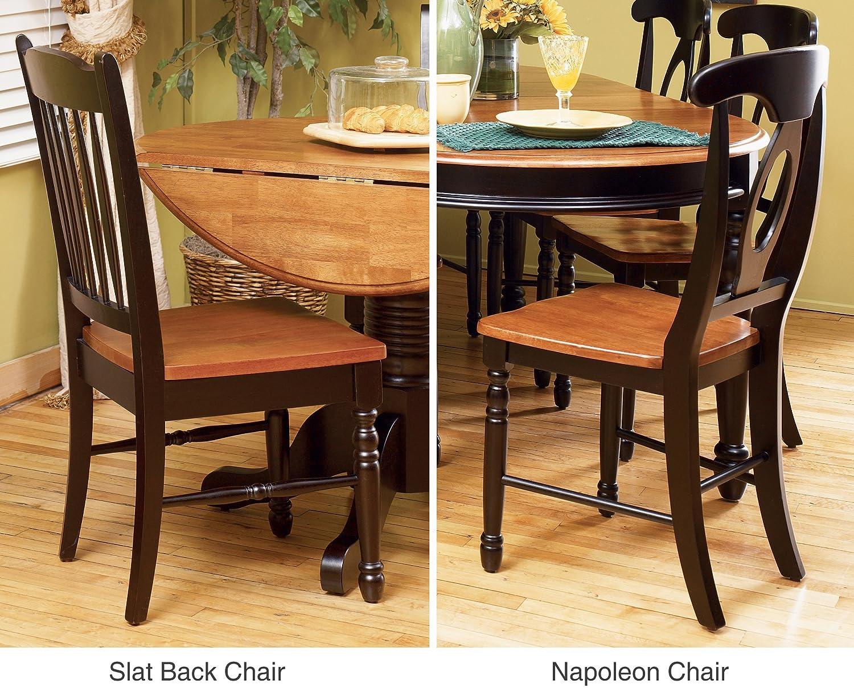 Amazon.com   A America British Isles Napoleon Side Chair   2 Chairs,  Honey Espresso   Chairs