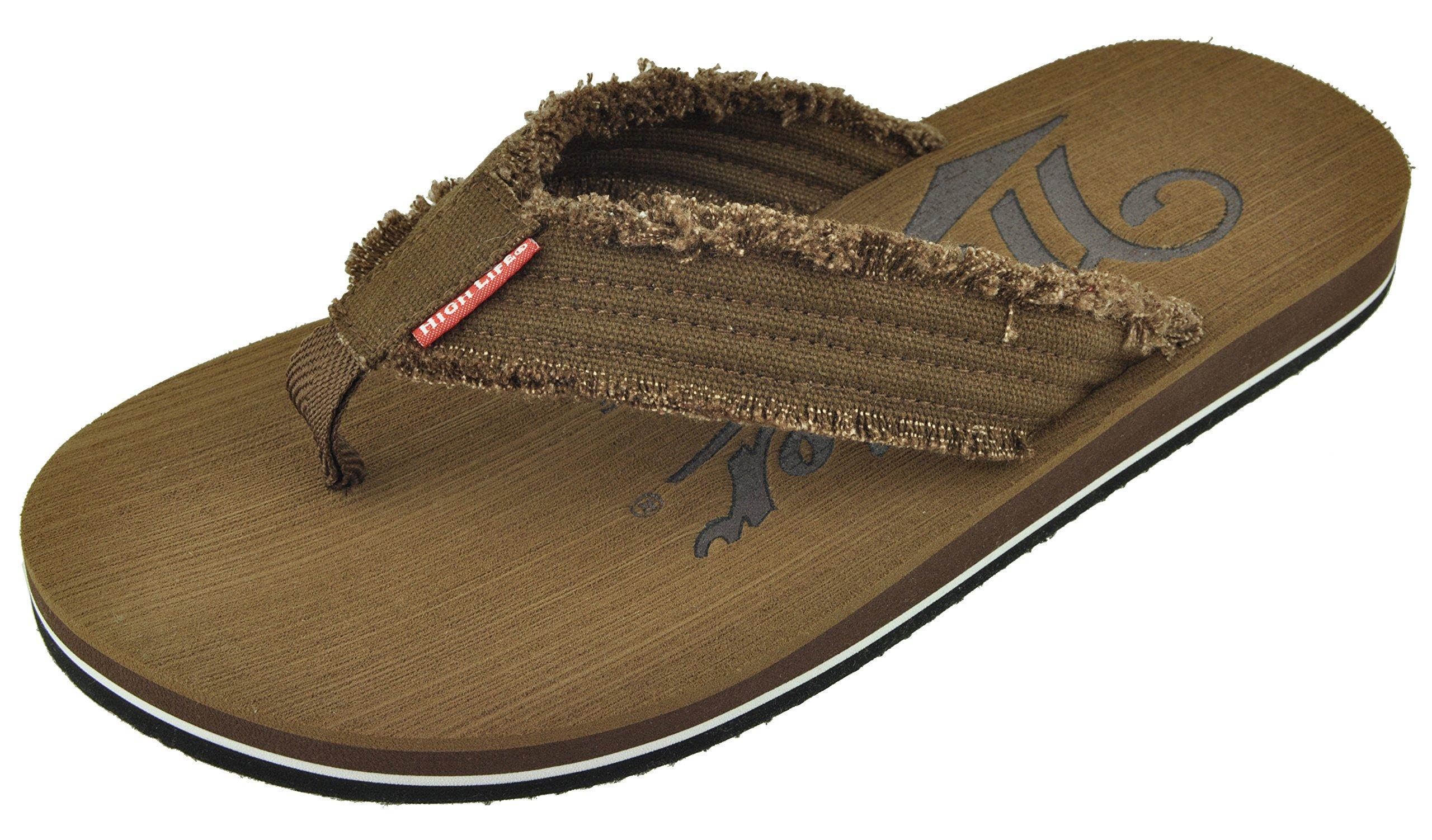 Miller High Life Beer Men's Classic Casual Summer Flip-Flop Sandals (Size LG 10-11)