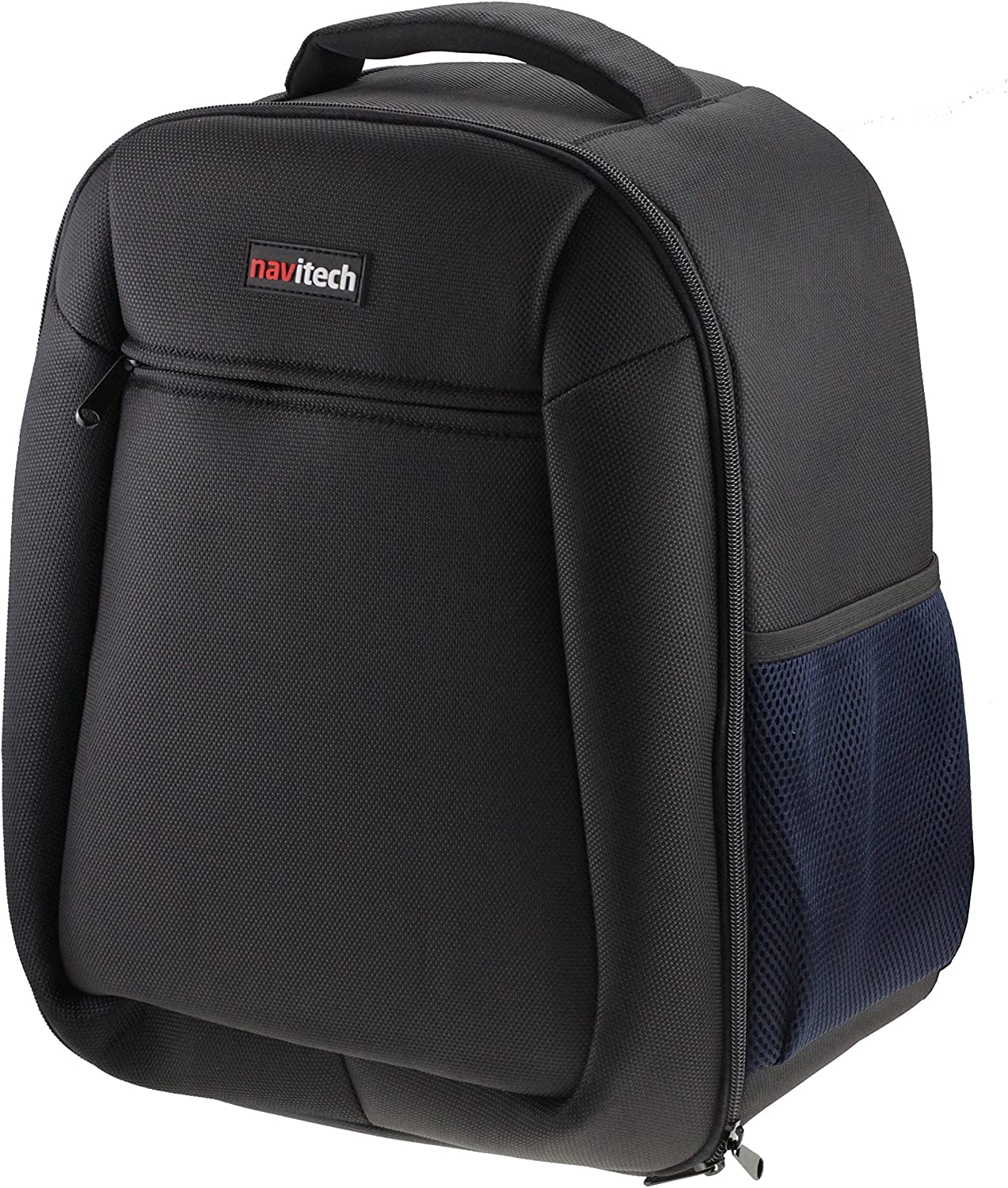 Navitech Rugged Black and Blue Backpack//Rucksack Camcorder Case Compatible with The Sony HXR-NX80 Compact 4K