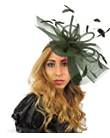 Hats By Cressida Grand Dame 12 Inch Sheer Ascot/Kentucky Derby Fascinator Hat With Headband