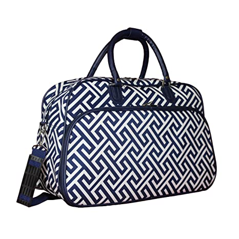 Amazon.com   World Traveler 21-inch Carry-on Duffel Bag - Greek Key H Navy  White   Travel Duffels 133d3f3f57