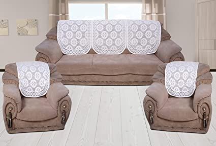 Elegant Style Your Home 5 Seater Net Fabric Sofa Back Covers Pack Of  5 Pcs(
