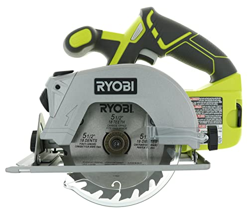 Ryobi P506 One Lithium Ion 18V 5 1 2 Inch 4,700 RPM Cordless Circular Saw with Laser Guide and Carbide-Tipped Blade Battery Not Included, Power Tool Only green full size