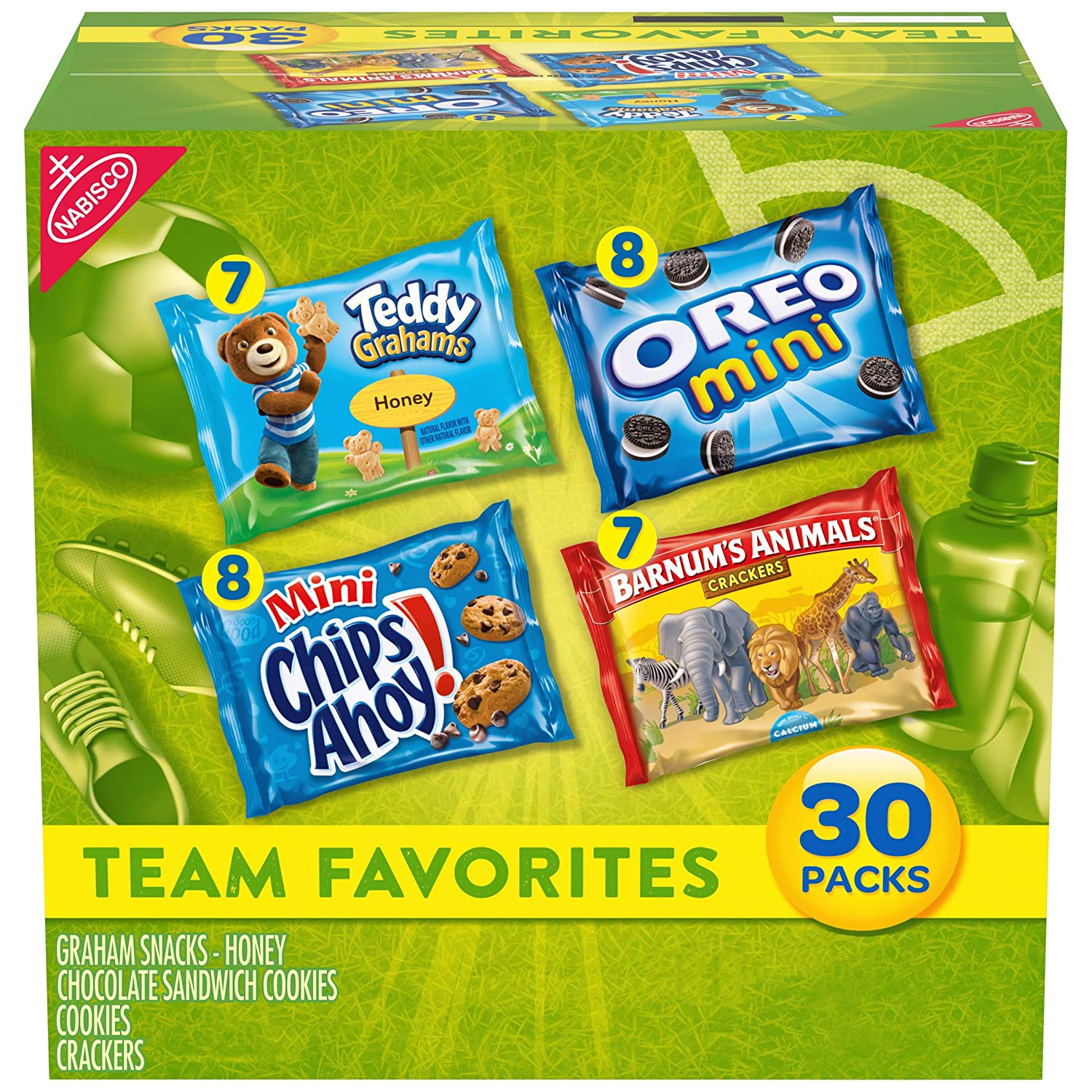 30-Pack Nabisco Team Favorites Cookies & Crackers Variety Pack