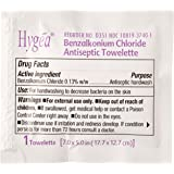 """Professional Disposables D35185 Hygea Benzalkonium Chloride Antiseptic Towelettes, 7.0"""" x 5.0"""" (Pack of 100)"""