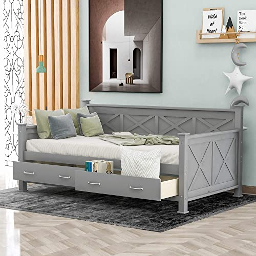 SOFTSEA Wooden Twin Daybed