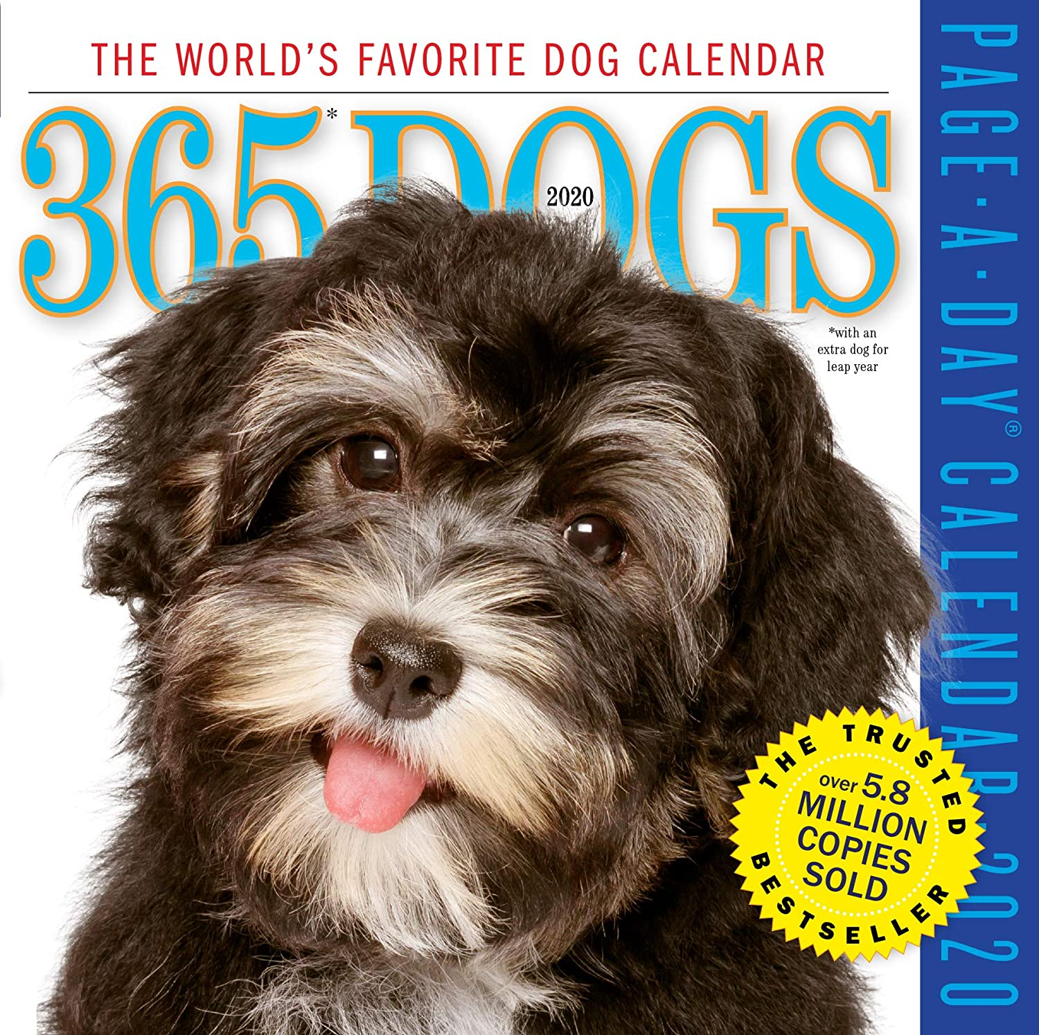 "365 Dogs Color Page-A-Day Calendar 2020 [6"" x 6"" Inches]"