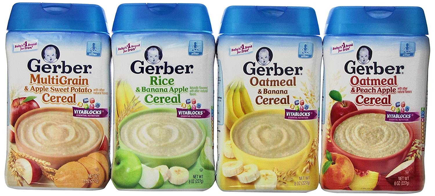 Amazon gerber baby cereal assorted flavor variety pack oatmeal amazon gerber baby cereal assorted flavor variety pack oatmeal peach apple cereal rice banana apple cereal oatmeal banana cereal ccuart Image collections