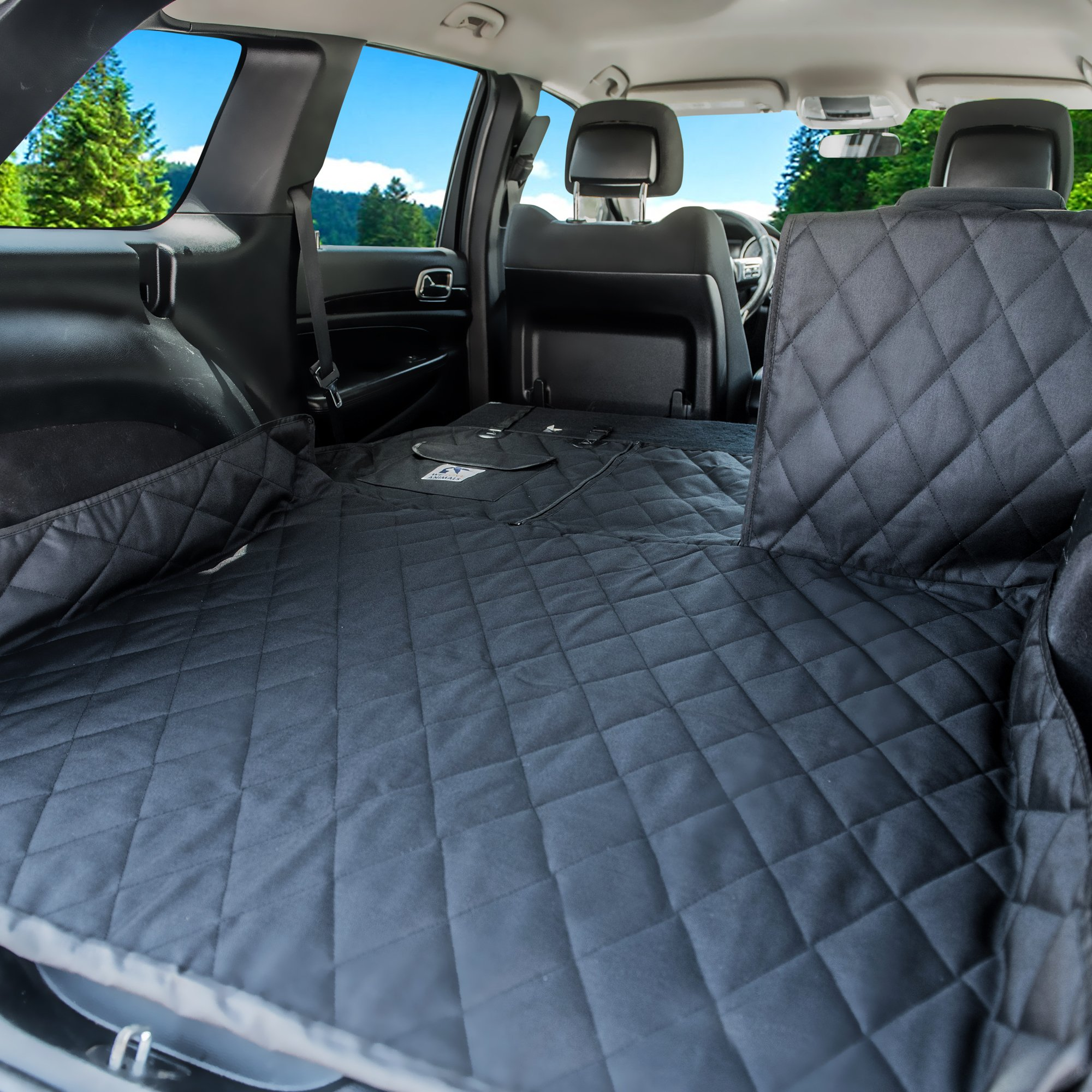 Dog Cargo Liner for SUV, Van, Truck & Jeep - Waterproof, Machine Washable, Nonslip Pet Seat Cover with Bumper Flap will keep your vehicle as clean as ever - XL, Universal Fit - BONUS Carry Bag by WE LOVE ANIMALS (Image #4)