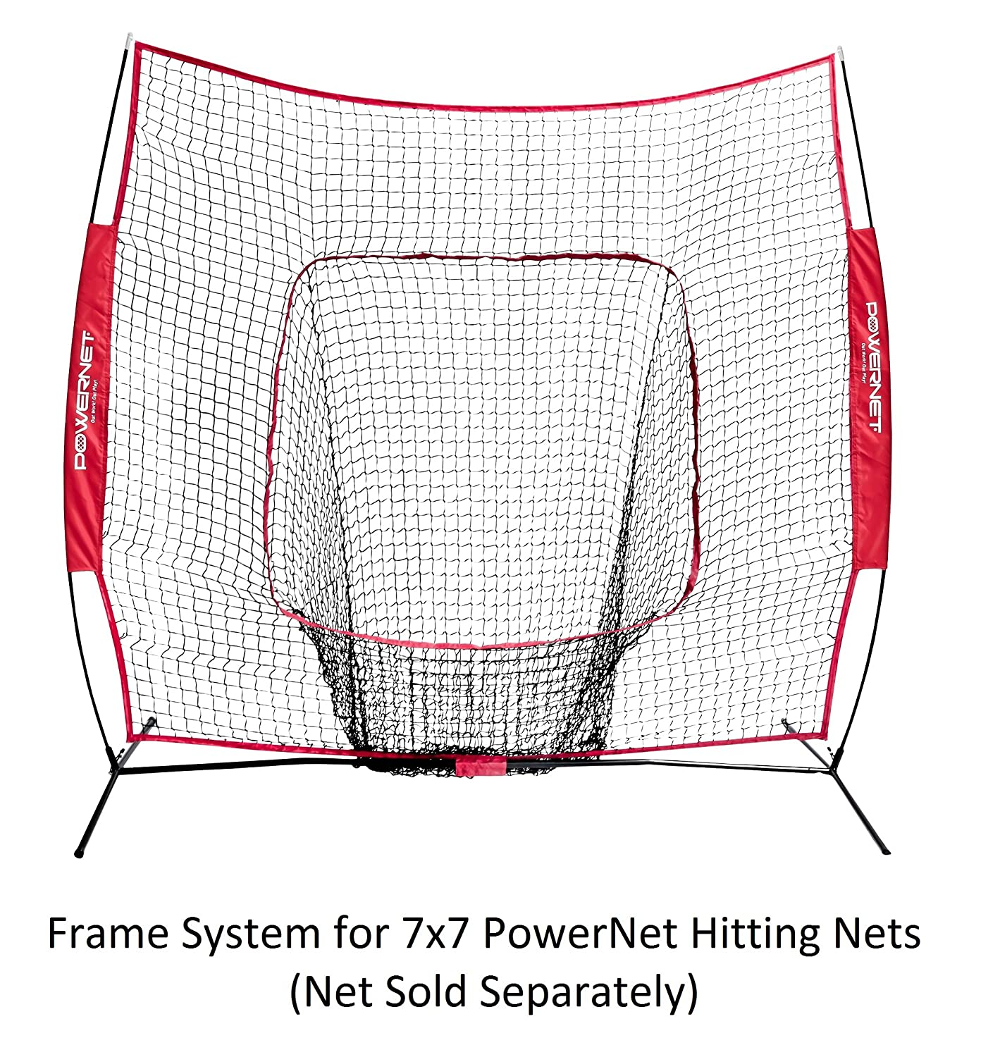 Amazon.com : PowerNet Metal Frame and Fiberglass Poles for Baseball ...