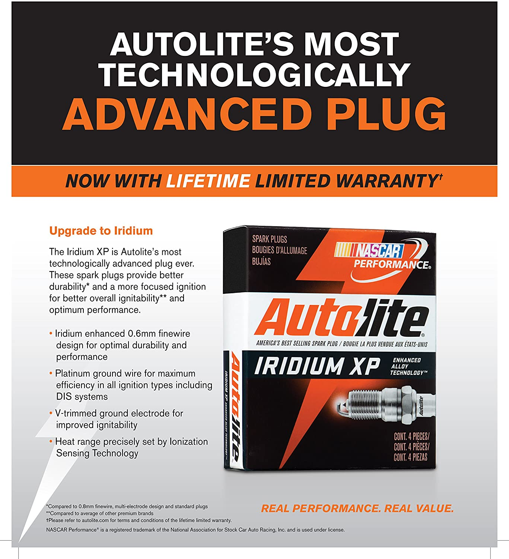 Autolite XP5263-4PK Iridium XP Spark Plug Pack of 4