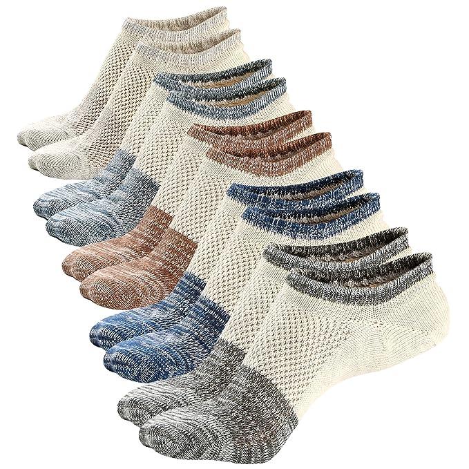 Ueither Calcetines Cortos Hombre Invisibles Antideslizantes Respirable Calcetines tobilleros Algodón Hombre: Amazon.es: Ropa y accesorios