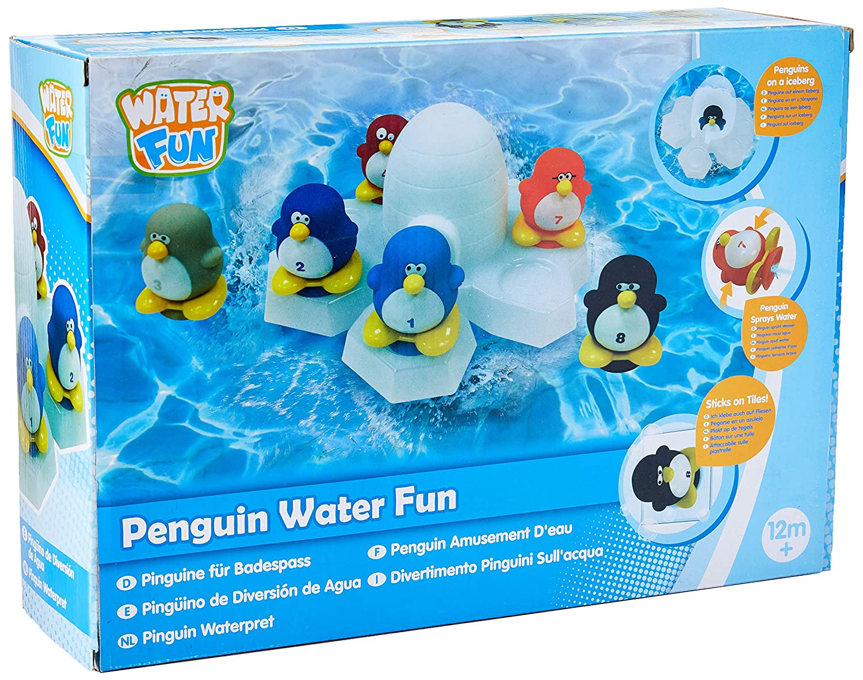 Water Fun Juguete de ping/üino con diversi/ón en Agua Negro//Rojo//Verde//Azul