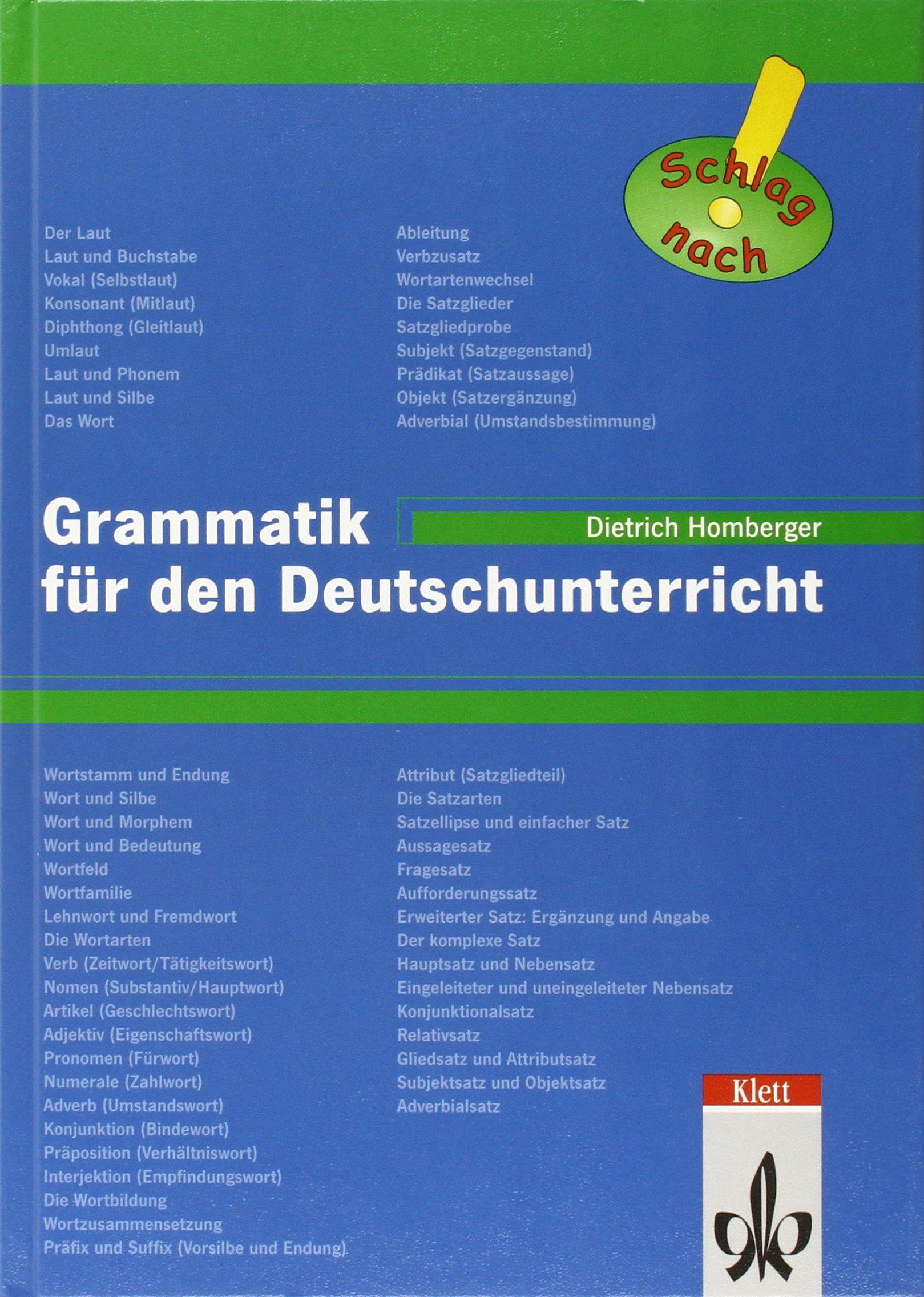 Grammatik für den Deutschunterricht, neue Rechtschreibung