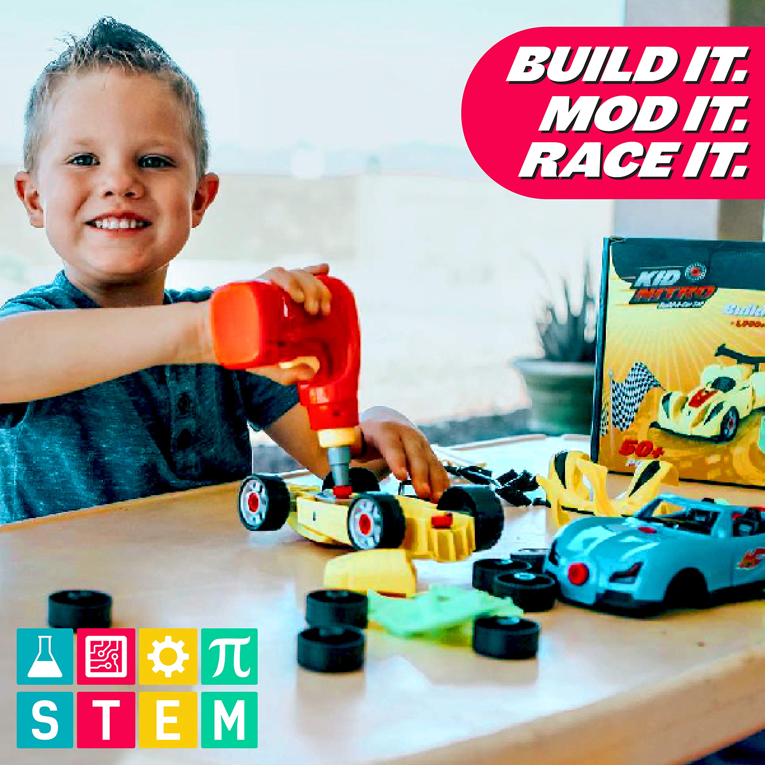 USA Toyz Race Car Take Apart Toys - 52pk Build a Car STEM Building Toys Set, Take Apart Car Building Kits for Kids w/ Car Drill Tool for Boys or Girls by USA Toyz (Image #6)