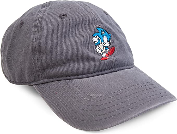Concept One Sonic The Hedgehog Embroidered Sonic Adjustable Washed Baseball Cap Amazon Co Uk Clothing