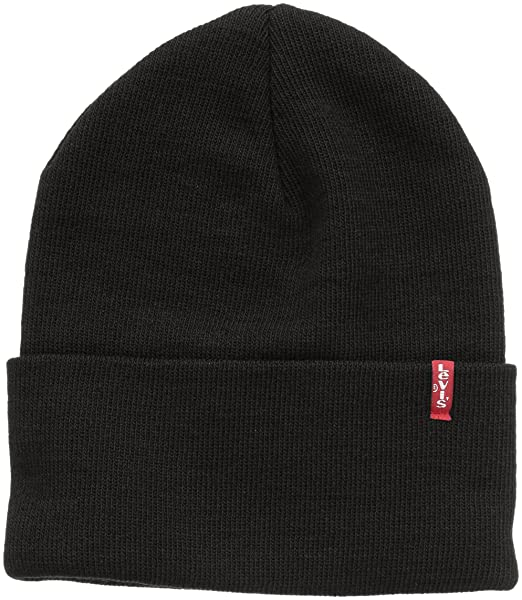 84f87be7789 Levi s Unisex New Slouchy Beanie W Red Tab Detail Beanie