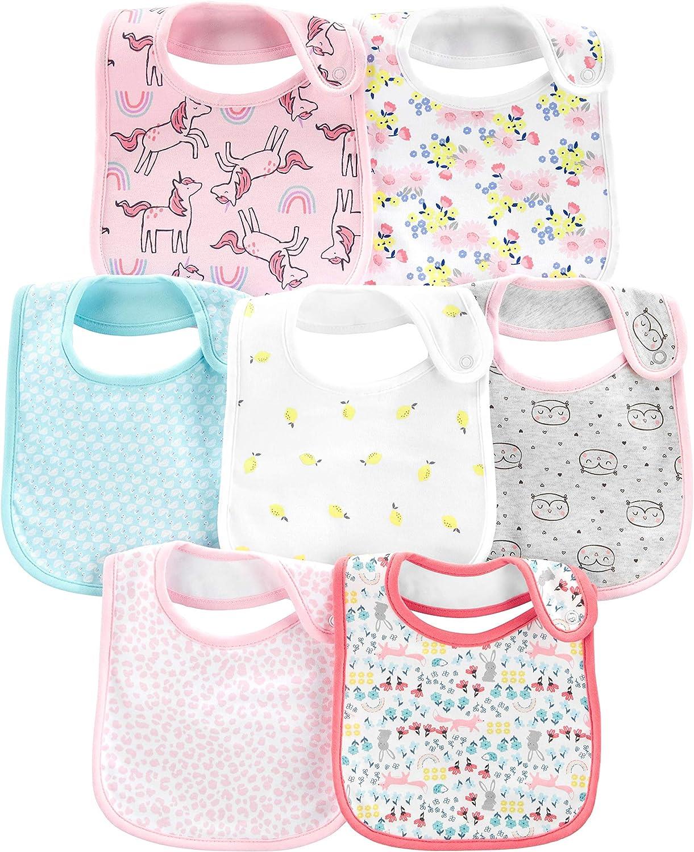 Taille Unique Simple Joys by Carters Lot de 7 Bavoirs de Dentition baby-bibs Multicolore