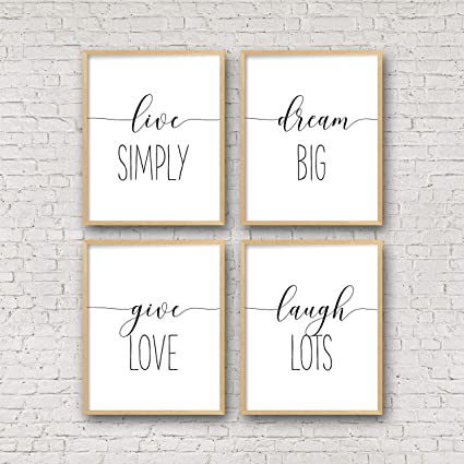 image regarding Printable Quotes to Frame identified as : Printable Wall Artwork Are living Effortlessly Aspiration Massive Provide