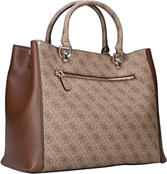 GUESS BLUEBELLE CARRYALL BRO BROWN: Amazon.co.uk: Shoes & Bags